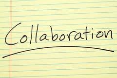 Сотрудничество на желтой законной пусковой площадке Стоковое Изображение RF