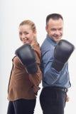 Сотрудники в перчатках бокса Стоковая Фотография RF