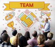 Сотрудничество Concpet партнерства сыгранности команды стоковые изображения
