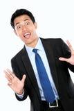 Сотрясенный молодой бизнесмен стоковое изображение