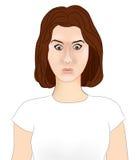Сотрясенный профиль девушки Стоковые Изображения RF