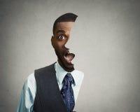 Сотрясенный, удивленный бизнесмен Стоковые Изображения