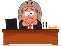 Сотрясенный человек босса Стоковое Изображение