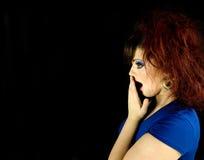 Сотрястенная девушка Стоковые Фотографии RF
