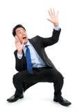 сотрястенные бизнесменом детеныши взгляда Стоковое фото RF