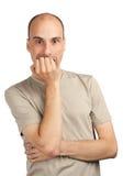 сотрястенный человек Стоковая Фотография RF