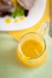Соусник с оранжевым соусом Стоковые Изображения