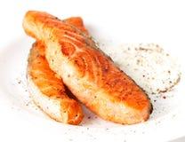 соус зажаренный выкружками salmon Стоковые Изображения