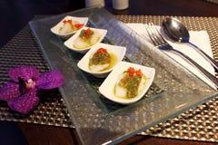 Соус морепродуктов Seabass стоковые фотографии rf