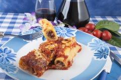 соус мяса cannelloni Стоковое Фото