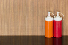 Соус перца и томатный соус Стоковое фото RF