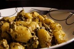 соус плиты гриба gnocchi Стоковая Фотография RF