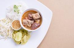 соус риса свинины лапшей пряный Стоковое Изображение