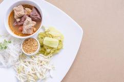 соус риса свинины лапшей пряный Стоковая Фотография RF