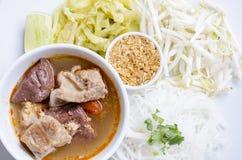 соус риса свинины лапшей пряный Стоковое Фото