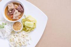 соус риса свинины лапшей пряный Стоковые Изображения