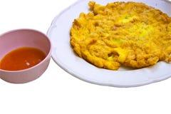 соус chili зажаренный яичком стоковые фото