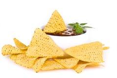 соус nachos барбекю стоковые изображения rf