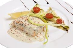 Соус Salmon стейка Стоковые Изображения