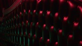 Софа в диско, светлый моргать видеоматериал