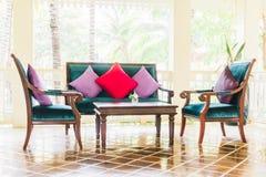 Софа и стул подушки Стоковое фото RF