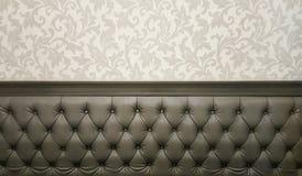 Софа коричневые предпосылка и текстура софы Стоковые Фото