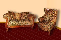 Софа & кресло стоковые изображения