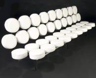 Софа проскурняка белой кожи Стоковое Изображение RF
