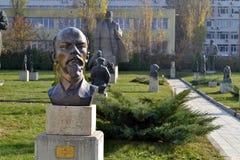 София/Болгария - ноябрь 2017: Статуя Ленин в музее социалистического искусства стоковые изображения