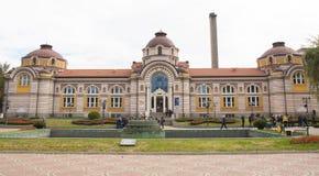 СОФИЯ, БОЛГАРИЯ - 9-ОЕ ОКТЯБРЯ 2017: Минеральная ванна, строение в 1906 Стоковая Фотография