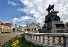 София, Болгария, парламент придает квадратную форму стоковые фото