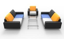 2 софы и кресла Стоковое Изображение RF