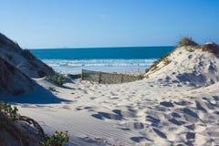 Сохраненные песчанные дюны в Baleal, Peniche, Португалии Стоковое Изображение