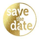 Сохраньте дату золотую Стоковое Изображение RF