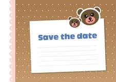 Сохраньте дату, стиль детей иллюстрация штока