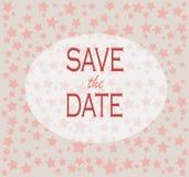 Сохраньте дату для свадьбы Стоковые Фото
