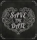 Сохраньте дату, Wedding дизайн приглашения винтажный типографский дальше Стоковое Изображение RF