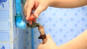 Сохраньте воду, мир спасения сток-видео