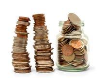 Сохраньте деньги и учтите банк для концепции дела финансов Стоковое Фото