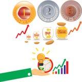 Сохраньте деньги и сохраняя монетку доллара Стоковые Фотографии RF
