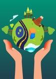 Сохраньте жизнь спасения мира Стоковые Изображения RF