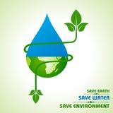 Сохраньте землю, воду и концепцию окружающей среды бесплатная иллюстрация