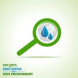 Сохраньте землю, воду и концепцию окружающей среды иллюстрация штока