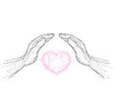 Сохраньте значок влюбленности Стоковое Фото