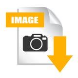Сохраньте значок изображения Стоковая Фотография