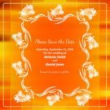 Сохраньте карточку даты Стоковые Изображения