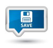 Сохраньте (кнопку знамени главного значка гибкого магнитного диска) голубую Стоковые Изображения RF