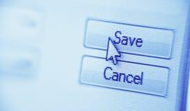 Сохраньте кнопку Стоковые Фотографии RF