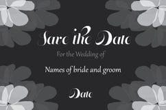 Сохраньте открытку свадьбы цветка даты иллюстрация штока