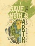 Сохраньте плакат eco концепции мать-земли Стоковые Фотографии RF